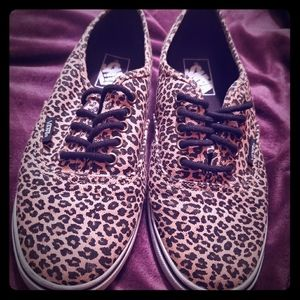 Leopard/cheetah print Vans (like new/hard to find)